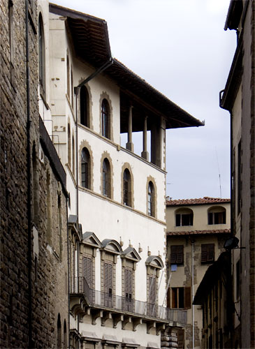 Loggia on palazzo in FLorence